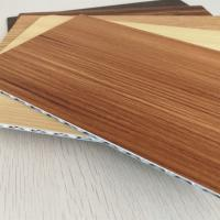 Wholesale 4mm Thick Wood Grain Aluminum Core Panel For Indoor Outdoor Decoration from china suppliers