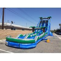 Wholesale Blue And Green Inflatable Double Slip And Slide With Pool 30 Foott Tall For Park from china suppliers