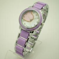 Buy cheap Fashion Purple Quartz Womens Watches , Two Tone Ladies Wrist Watches from Wholesalers