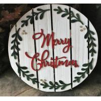 Wholesale Merry Christmas Dimensional Wood Sign 13 Pallet Circle Wood Pallet Wall Art Sign Plaque from china suppliers