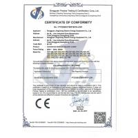 JINGCHENG ELECTRIC ENERGY EQUIPMENT HONGKONG LIMITED Certifications