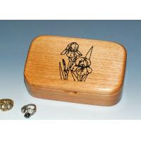Wholesale Natural Wood Solid Timber Jewellery Box With Lacquer, Handmade Wooden Ring Gift Box from china suppliers