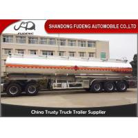 Wholesale 5 Compartments Aluminum Tank Semi Trailer , Petroleum Tank Trailers 50000 Liters from china suppliers