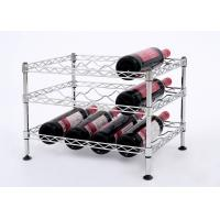 Wholesale Mini Wine Rack Metal Display Shelf Carbon Steel Material Size: 45*30*32CM from china suppliers