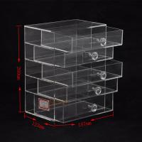 Quality 5 Tier Acrylic Display Stand Custom Store Fixtures Jewelry Display Drawer With for sale