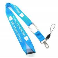 Wholesale NL-6 Durable Blue Nylon Mobile Phone Neck Strap Lanyards With Carabiner Hook from china suppliers