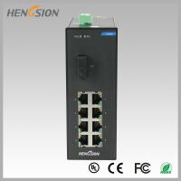 Buy cheap Din rail Lightweight Gigabit Ethernet Switch 8 Electric Port and 1 FX from wholesalers