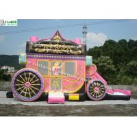 Wholesale Kids Party Princess Carriage Bounce House With Slide , Made Of 1st Class PVC Tarpaulin from china suppliers