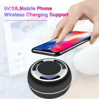 Wholesale TWS portable bluetooth speaker mobil phone wireless charging support LED colorful with radio from china suppliers