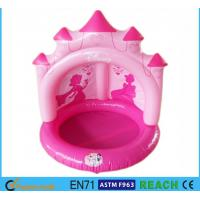 Wholesale Pink Castle Inflatable Swimming Pool OEM Accepted With Sun Protection Canopy from china suppliers