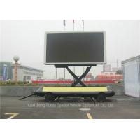 China Mobile Led Display Trailer With Lifting System , High Defination LED Advertising Trailer for sale