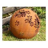 Wholesale Metal Garden Landscape Corten Steel Ball Sculpture Outdoor Spheres Corrosion Stability from china suppliers