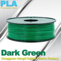 Wholesale OEM Biodegradable PLA  1.75 / 3.0 mm 3D Printer Filaments ( Dark Green ) from china suppliers