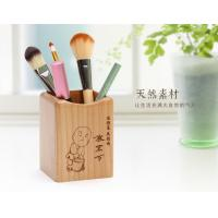 Wholesale Laser Graphic Mini Wooden Desktop Pen Holder Stand 75 X 73 X 98mm Artistic Wood Crafts from china suppliers