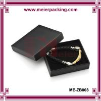 Wholesale Jewelry paper box for bracelet/Logo printed black paper jewelry gift box ME-ZB003 from china suppliers