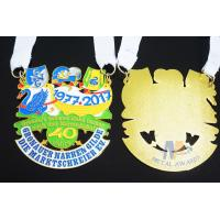 Buy cheap Metal Orden Sports Enamel Award Medallions Custom Design With Cut Out Effect from wholesalers