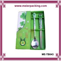 Wholesale wedding favor gift giveaways for guest Asian porcelain spoons chopstick paper box ME-TB043 from china suppliers