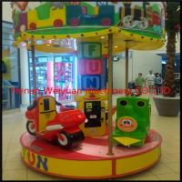 Funny kiddie rides 3 seat merry go round mini carousel for sale for sale
