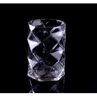 Wholesale Mouth Blown Clear Diamond small glass votive candle holders / Candle Jar from china suppliers
