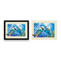 Buy cheap 12x16 Inch Framed Dolphin Picture Wall Arts 3d Lenticular Picture For Home Decoration from wholesalers