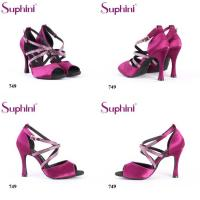 China Suphini Tied Buckle High Heel Ballroom Party Shoes Latin Dance Shoes With Diamond Rhinestone on sale