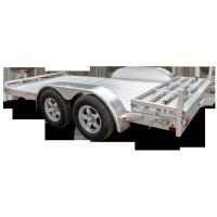 China 5 X 3 Tandem Axle Aluminum Trailer , Solid Axle Aluminum Box Trailer on sale
