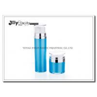 Wholesale Cap Transparent The Bottle In The Blue Section Plating Silver Airless Pump Bottles from china suppliers
