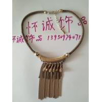 China Glass water drops beads + chain tassel hand chain necklace jewelry on sale