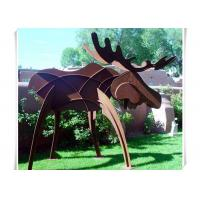 Wholesale Animals Corten Steel Moose Statue , Abstract Style Rusted Steel Garden Art from china suppliers