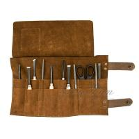 China Custom Handmade Leather Tool Roll Bag For Chef / Barber / Electrician on sale