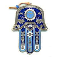 Wholesale Blue Enamel Hamsa Hand Jewelry Islamic Hand Pendant Without Stone from china suppliers