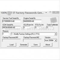 Wholesale 100% ET FACTORY PASSWORDS GENERATOR v0.2.8 with free DHL shipping for cat from china suppliers