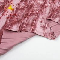Buy cheap 2018 New China wholesale crumple korean velvet fabric for dress from wholesalers
