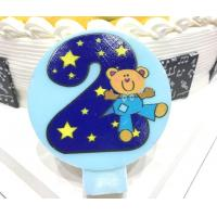 Wholesale Cute Round Shape Number Printable Birthday Candles For Cake Decorating No Smoking from china suppliers