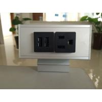 Wholesale Desk Mounted Power Sockets with 1 Outlets & 2 USB Ports , Metal Tabletop Outlet 125V 15A from china suppliers