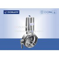 Wholesale Sanitary level 2 inch butterfly valves with stainless steel actuator of type - B from china suppliers