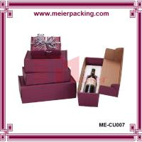 Wholesale handmade luxury kraft paper wine box/gift boxes/Elegant cardboard wine box/ flip top wine paper box ME-CU007 from china suppliers
