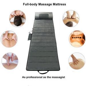 China Infrared Cool Gray Full Body Shiatsu Massage Mat Foldable Comfortable on sale