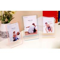 Wholesale Decorative tabletop standing plexiglass magnet photo frame from china suppliers