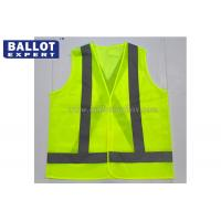 Wholesale 100% Polyester Reflective Safety Vest Color / Size Customized For Location from china suppliers