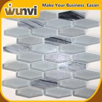 Buy cheap 8mm Glass Marble Stone Mosaic Tile For Kithen Wall Decoration from wholesalers