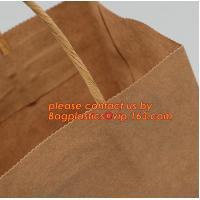 Wholesale Promotional paper bag in fancy paper and foil logo, Fashion gift paper bag with ribbon handle, Special handle design pap from china suppliers