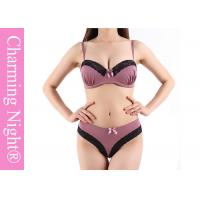 Wholesale Good Mature Ladies Sexy Push Up Bra Sets With Beautiful Brief Panties from china suppliers
