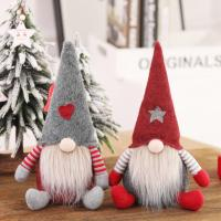 Wholesale Embroidery Logo Pp Cotton Animated Christmas Plush Blind Santa Claus Long Beard from china suppliers