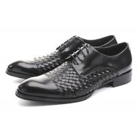 Buy cheap Business BV Oxfords Mens Casual Dress Shoes , Mens Black Lace Up Shoes For Party from wholesalers