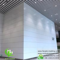 Buy cheap Aluminum facade cladding powder coated white PVDF finish aluminum sheet from wholesalers