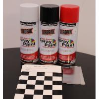 China Fast Dry 400ml Aerosol Spray Paints / High Coverage Black Spray Paint For Cars for sale