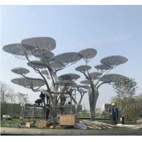 China Large Outdoor Stainless Steel Tree Sculpture Modern Art Design As Public Decoration for sale