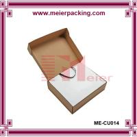 Wholesale Brown kraft corrugated T-shirt box, handle paper gift box ME-CU014 from china suppliers