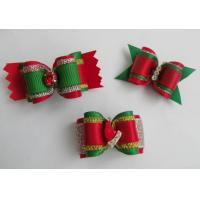 China Dog Hair Bows Pet Bows Christmas Pet Bows on sale